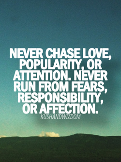 NEVER CHASE LOVE, 