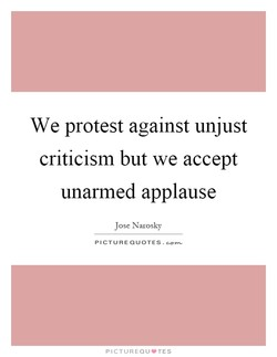 We protest against unjust 