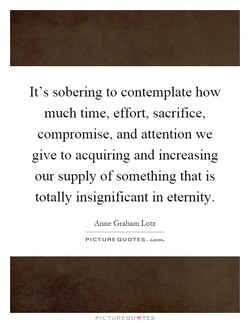 It's sobering to contemplate how 