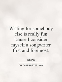 Writing for somebody 