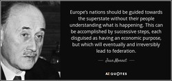 Europe's nations should be guided towards 
