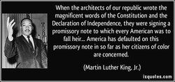 When the architects of our republic wrote the 