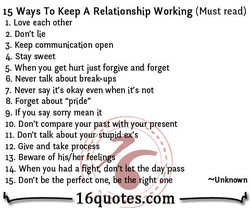 15 Ways To Keep A Relationship Working (Must read) 