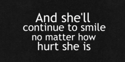 And she'll 