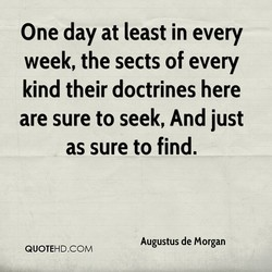 One day at least in every 