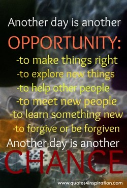 Another day is another 