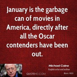January is the garbage 