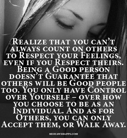 (REALIZE THAT YOU CAN'W 