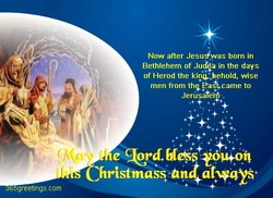 Now after Jesu4was born in