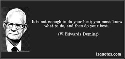 It is not enough to do your best; you must know 