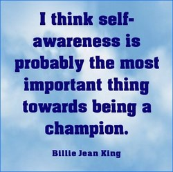 I think self- 