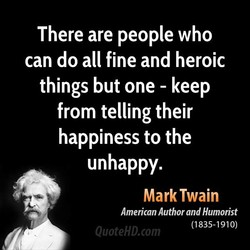 There are people who 