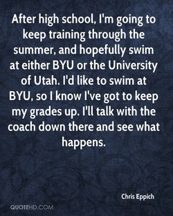 After high school, I'm going to 