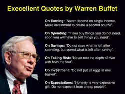 Execellent Quotes by Warren Buffet On Earning:
