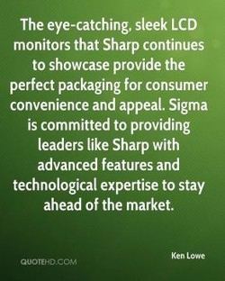 The eye-catching, sleek LCD 