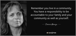 Remember you live in a community. 