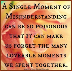 A SINGLE*MOMENT OF 