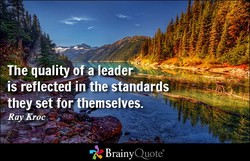 Theiuality ofa leader 