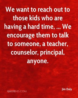 We want to reach out to 