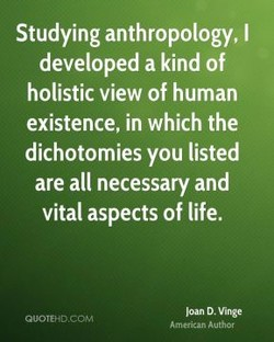 Studying anthropology, I 