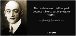 The modern mind dislikes gold 