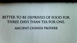 BETTER TO BE DEPRIVED OF FOOD FOR 
