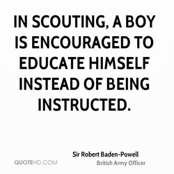 IN SCOUTING, A BOY 