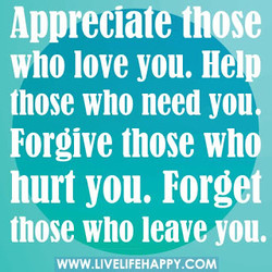 Appreciate those 