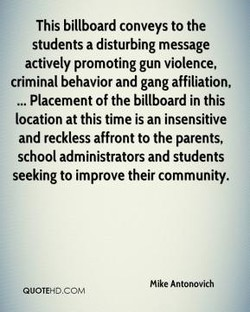 This billboard conveys to the 
