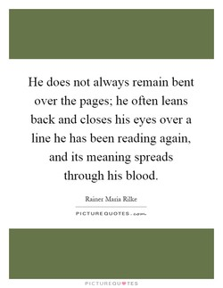 He does not always remain bent 