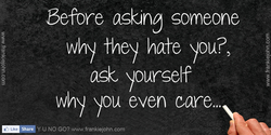 Before asking someone 