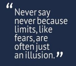 N ever say 