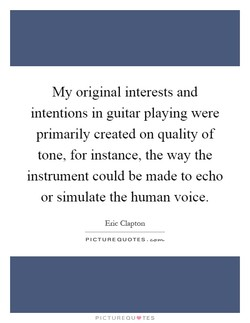 My original interests and 