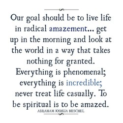 Our goal should be to live life 