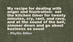 My recipe for dealing with 