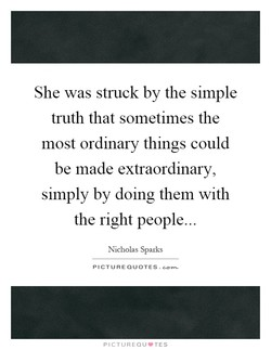She was struck by the simple 