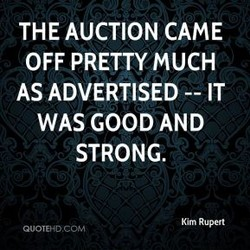 THE AUCTION CAME 
