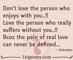 Don't love the person who 