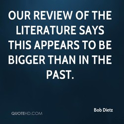 OUR REVIEW OF THE 