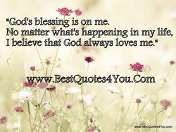 nGod9s blessing is on meo 
