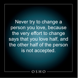 Never try to change a 