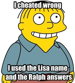 I cheated wrong 