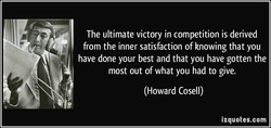 The ultimate victory in competition is derived 