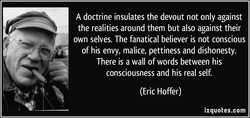 A doctrine insulates the devout not only against 