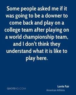 Some people asked me if it 
