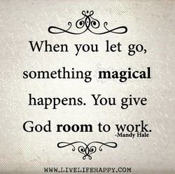 When you let go, 