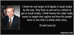 I think the real target of al-Qaeda is Saudi Arabia 