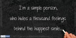 I'm a simple person, 