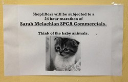 Shoplifters Will be subjected to a 