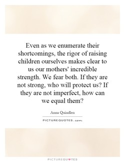 Even as we enumerate their 